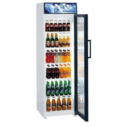 Liebherr refrigerator with glass door