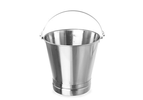 Hendi Stainless Steel Buckets 7 Liter Heavy Equipment