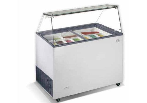 HorecaTraders Scoop ice cream display | 90x65x123 cm