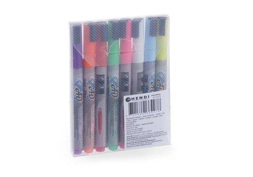 Hendi Chalk pens 8 Colors Round Point
