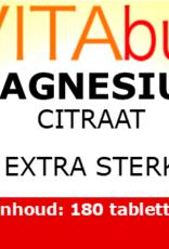 Vitabus Magnesium Citraat  extra sterk 180 vegetarische tabletten.