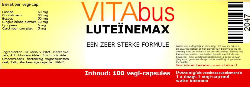 Vitabus LuteïneMax 100  vegetarische capsules