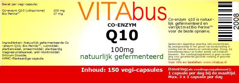 Vitabus Co-enzym Q10 100 mg 150 vegetarische capsules