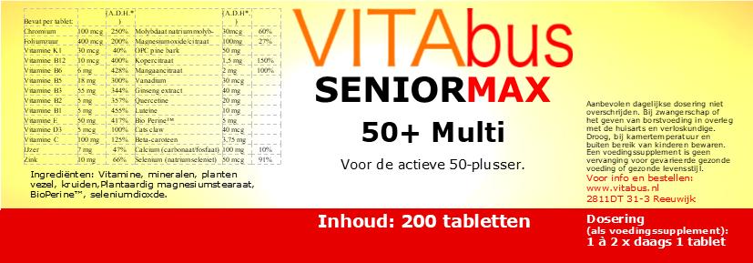 Vitabus SeniorMax 50+ Multi 200 vegetarische tabletten