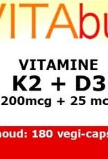 Vitabus Vitamine d3 1000ie K2 200mcg forte 180 capsules