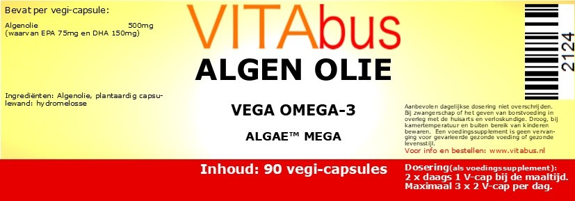 Algenolie vega omega-3