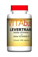 Vitabus Levertraan vitamine A + D3 400 capsules
