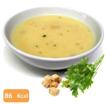 Proteine soep met kip en croutons