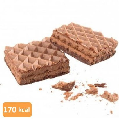 Low carb chocolade proteïne wafel (per 10 wafels: 5 verpakkingen van elk 2 wafels)