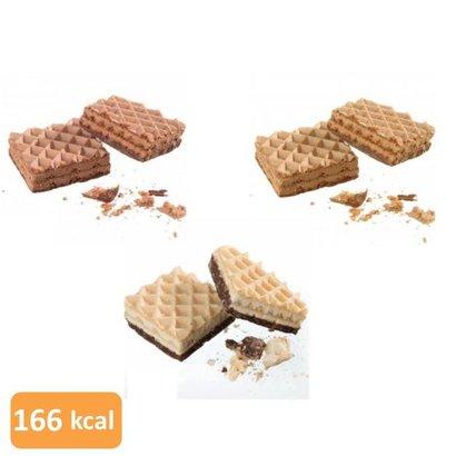 Wafel LC proefpakket (18 wafels in 3 smaken: 9 verpakkingen van elk 2 wafels)
