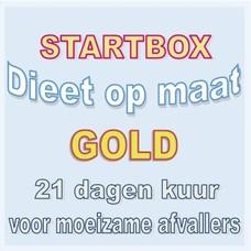 21 dagen startbox GOLD voor moeizame afvallers. Weekprijs = 65,50 euro/week