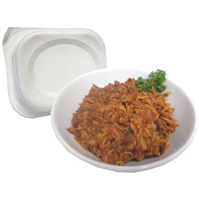 Proteine spaghetti bolognaise in kant en klare magnetron maaltijd