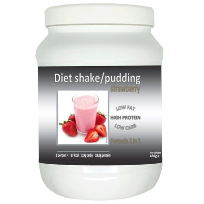 Pot shake/pudding aardbei smaak