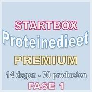 14 dagen FASE 1 startbox voor een premium proteinedieet. Weekprijs = 63,69 euro/week