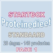 28 dagen startbox voor een standaard proteinedieet. Weekprijs = 57,38 euro/week