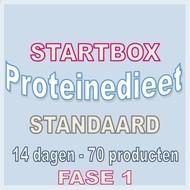 14 dagen FASE 1 startbox voor een standaard proteinedieet. Weekprijs = 60,92 euro/week