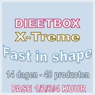 DIEETBOX X-TREME fast in shape (14 dagen kuur). Weekprijs = 49,95 euro/week