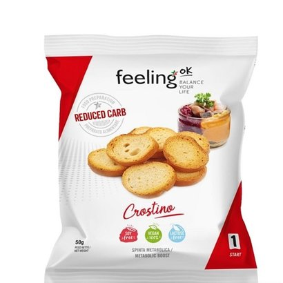 Feeling OK proteïne toastjes crostino low carb (50g)
