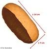 Proteïne orangechoc koek low carb (per 5 stuks)