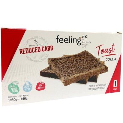 Feeling OK Proto toast cacao of chocolade 4x40g (= 4 zakjes a elk 4 toast)