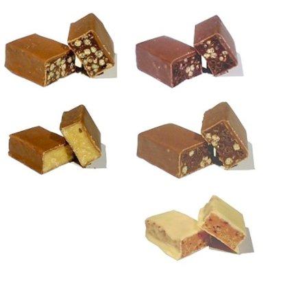 Repen low carb met chocolade proefpakket  (5 repen in 5 smaken)