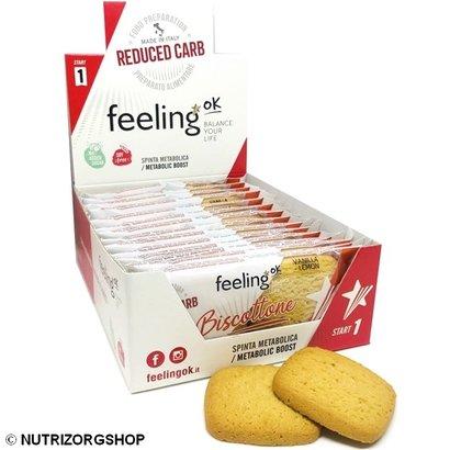 Doos ciao carb / Feeling OK  Protobisco Biscottone vanille koek (10x 2 koeken)