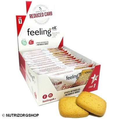 Doos ciao carb / Feeling OK  Protobisco Biscottone amandel koek (10x 2 koeken)