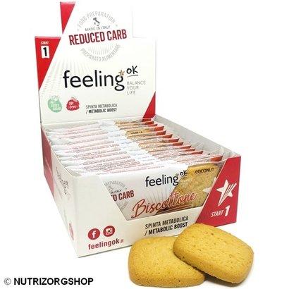 Doos ciao carb / Feeling OK  Protobisco Biscottone kokosnoot koek (10x 2 koeken)