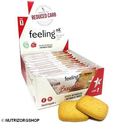 Doos ciao carb / Feeling OK  Protobisco Biscottone Appelsien koek (10x 2 koeken)