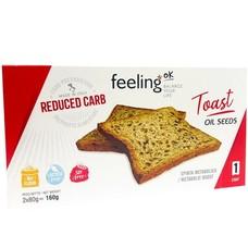 Feeling OK prototoast volkoren 4x40g (= 4 zakjes a elk 4 toast)