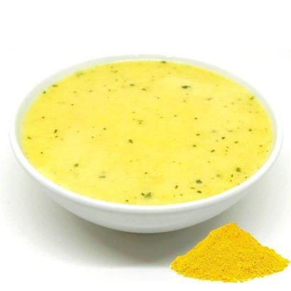 proteïne currysoep met gele curry