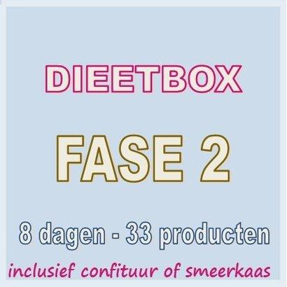 8 dagen FASE 2 dieetbox  VOOR SNEL EN BLIJVEND AFVALLEN