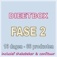 16 dagen FASE 2 dieetbox. Weekprijs = 55,9 euro/week
