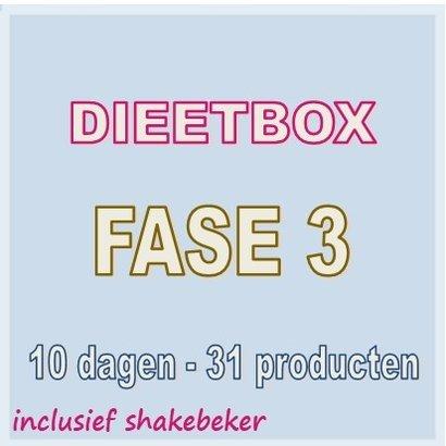 10 dagen FASE 3 dieetbox combinatiedieet VOOR LANGZAMER AFVALLEN