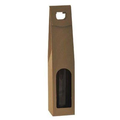 1-fles  draagkarton & venster open golf naturel