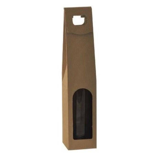 1-fles draagkarton met venster open golf naturel