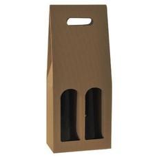 2-fles draagkarton met venster open golf naturel