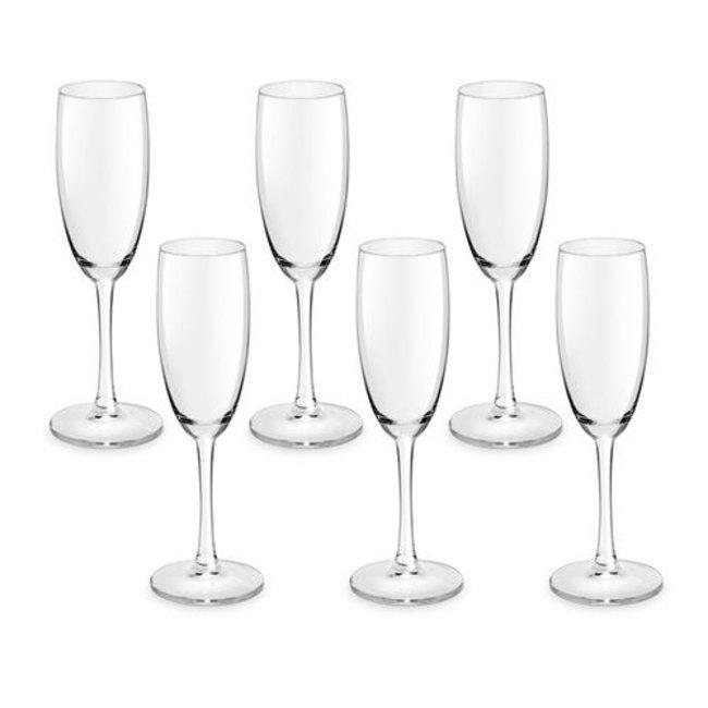Champagneglazen met opdruk Vin Unique 6 stuks