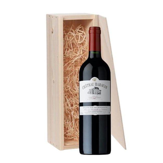 1-fles wijnkist Château Baracan - Côtes de Bordeaux, Frankrijk