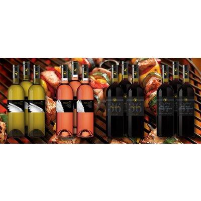 Barbecue wijnpakket bestaande uit 12 flessen wijn