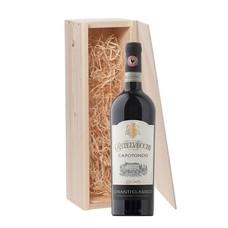 1-fles wijnkist met Capotondo Chianti Classico Castelvecchi - Toscane, Italië