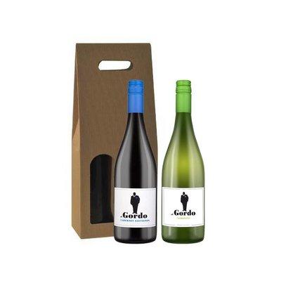 2-fles wijngeschenk El Gordo Cabernet Sauvignon & Chardonnay - Spanje