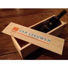 Houten wijnkistje full-colour bedrukt