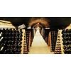 Pupitre, Champagnerek, Riddling rack grondmodel 9 flessen met origineel Charles Heidsieck brandmerk
