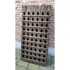 Pupitre, Champagnerek, Riddling Rack grondmodel 120 flessen met horizontale latjes