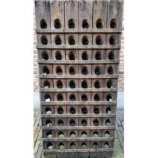 Pupitre, Champagnerek, Riddling rack muurmodel 60 flessen - horizontale latjes