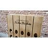 Pupitre, Champagnerek, Riddling rack grondmodel 80 flessen met Champagne Nicolas Feuillatte brandmerk