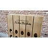 Pupitre, Champagnerek, Riddling rack muurmodel 40 flessen met Champagne Nicolas Feuillatte brandmerk