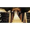 Pupitre, Champagnerek, Riddling rack grondmodel 120 flessen met Moët & Chandon Champagne brandmerk