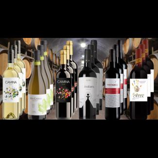 Binnen Pret Pakket bestaande uit 18 flessen wijn
